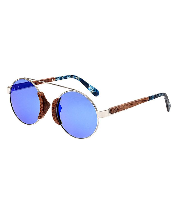 Look at this #zulilyfind! Silver & Red Rosewood Talisay Wood Sunglasses by EARTH wood watches #zulilyfinds