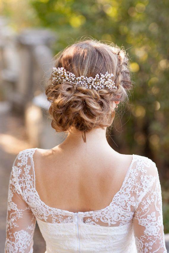 Wedding hair comb Pearl bridal comb Bridal by AnnAccessoriesStudio