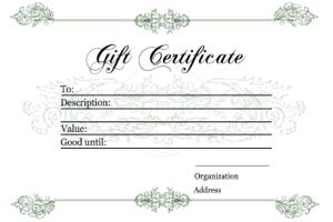 Free Printable Gift CertificatesDifferent Designs  Printable