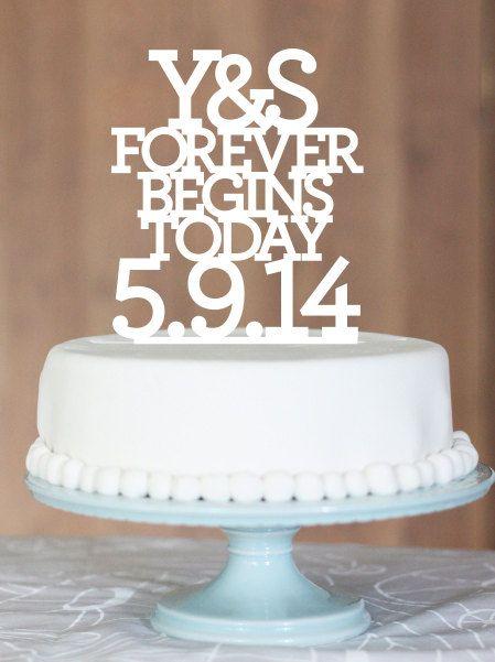 Bedenk je eigen tekst voor op je bruidstaart en laat een super persoonlijke taarttopper maken!