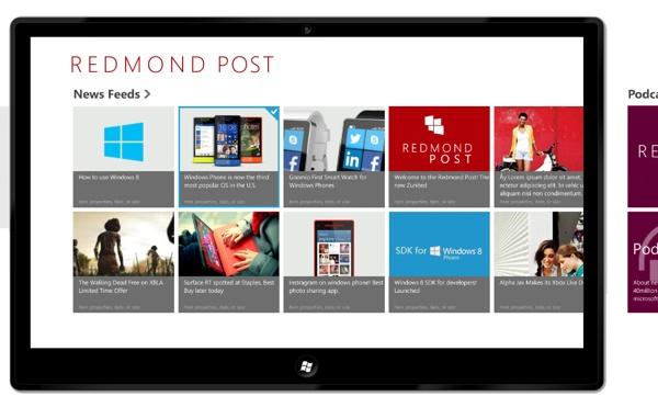 Redmond Post Concept App design by Nivesh Singh, via Behance