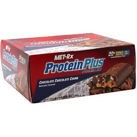 MET-Rx ProteinPlus Chocolate Chocolate Chunk Protein Bars, 3 oz, 12 count
