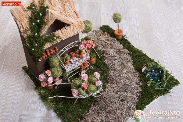 Флористическая композиция «Цветочный сад» -   Леонардо хобби-гипермаркет - сделай своими руками