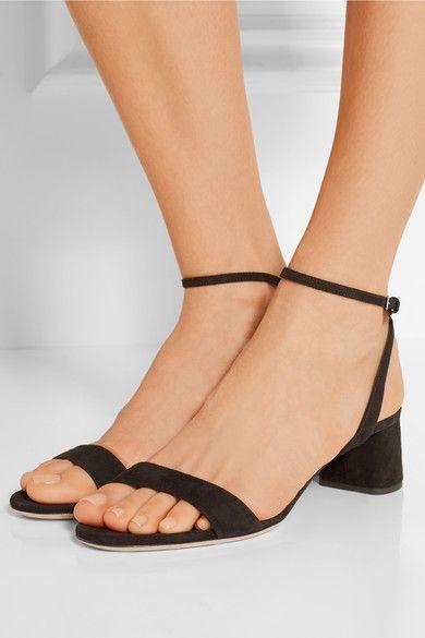 Miu Miu | Suede sandals | NET-A-PORTER.COM                                                                                                                                                                                 More