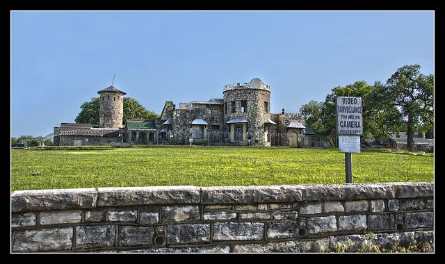 Castle of Heron Bay, Lake Worth, Texas. Formerly known as Whiting Castle, and commonly known as the Lake Worth Castle. Originally a three-room farm house built circa 1860, the property was won in a poker game by Samuel E. Whiting, who expanded and embellished the structure in the style of a castle, during the 1920s