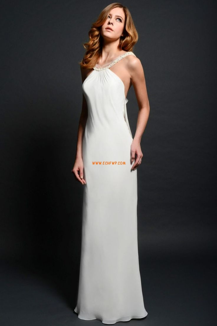 Kolem krku Elegantní & moderní Léto Levné svatební šaty