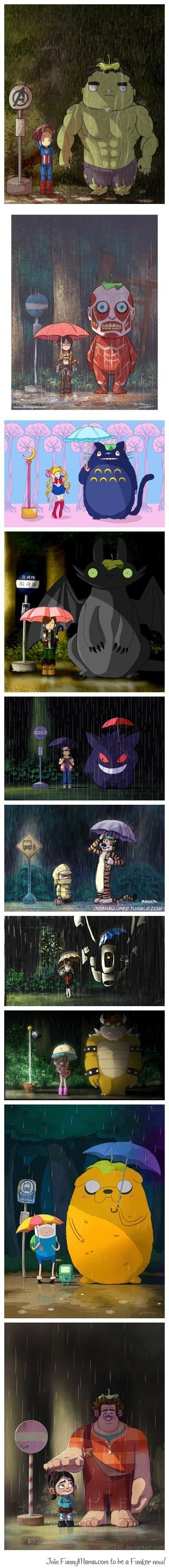 I just love Totoro all the characters are so much fun. Just the kind of imaginary friends I had when I was young.............