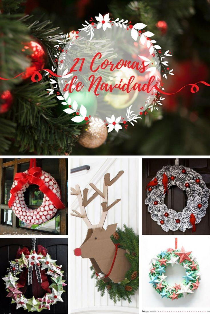 Mejores 52 im genes de una navidad diy en pinterest - Coronas navidenas faciles ...