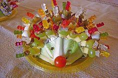 Bunter Gemüse/Obst-Gummibärchen-Igel