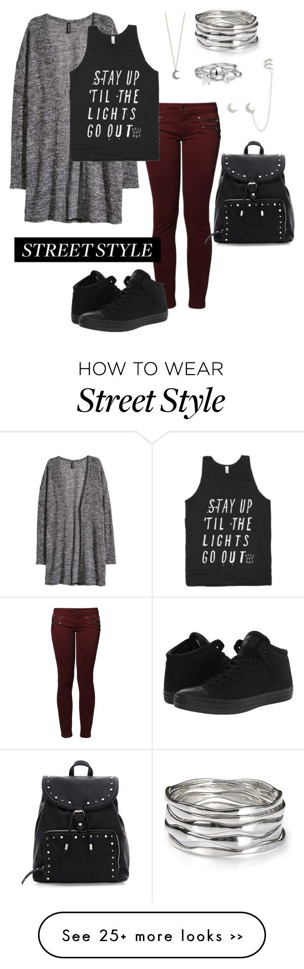 """Untitled #126"" by woahhorse on Polyvore featuring Kaporal, H&M, Converse, Aqua and Bling Jewelry"