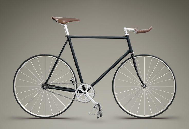 black, silver and brown leather fixie