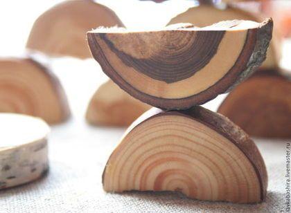 """игра развивающая """"найди половинки"""" - срезы натурального дерева - игра"""