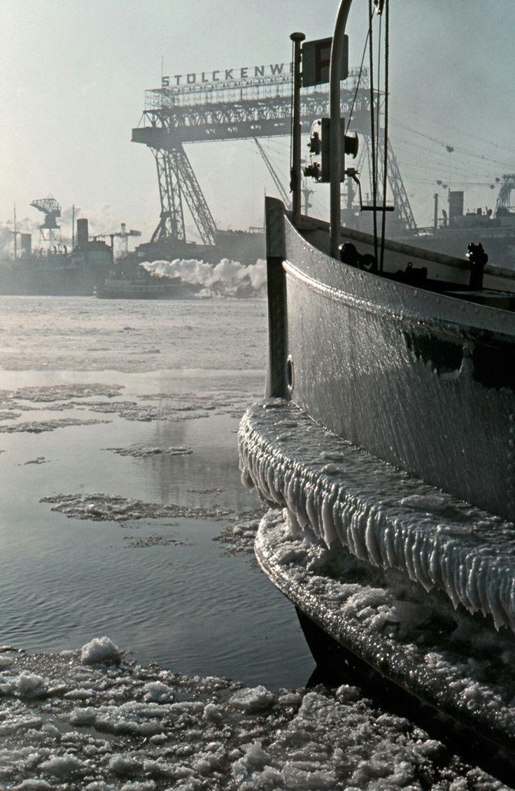 Hamburger Hafen, 60er Jahre - Foto Voß