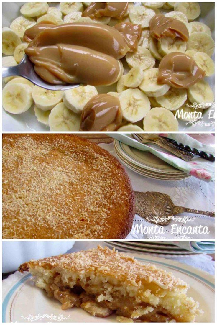 Como preparara uma deliciosa Torta de Banana e Doce de Leite com as fotos do passo a passo!