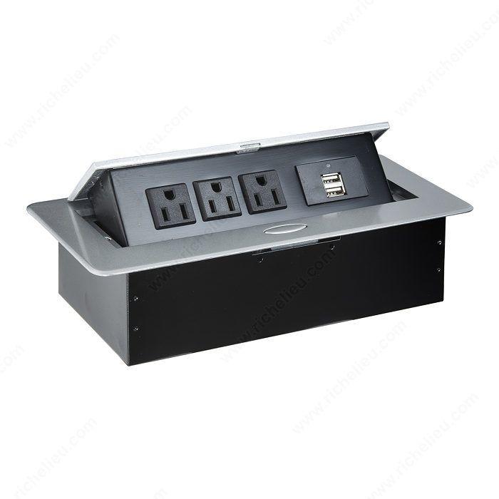 Découvrez la plus vaste sélection de Boîtes d'alimentation électrique et de communication telle que Borne d'alimentation Richelieu, à 3 prises et 2 ports USB sur richelieu.com, le guichet unique de l'industrie des fabricants de cuisines et d'ébénisteries résidentielles et commerciales