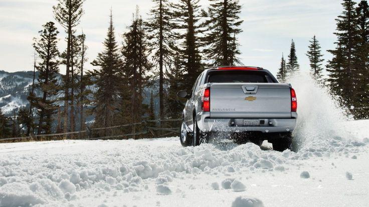 The 2013 #Chevy Black Diamond #Avalanche SUV truck in Silver Ice Metallic.