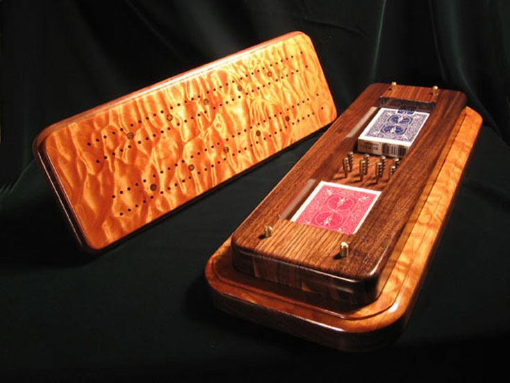 Handcrafted cribbage board | Quality, custom fine furniture from Wolcott Custom Wood Works