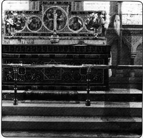 This picture — one of the more famous, and more controversial, pictures of potential ghosts — was taken in 1963 by Reverend K. F. Lord in Newby Church in North Yorkshire, England. Allegedly, some photo experts who have examined the photo say that the startling image is not the result of double exposure.