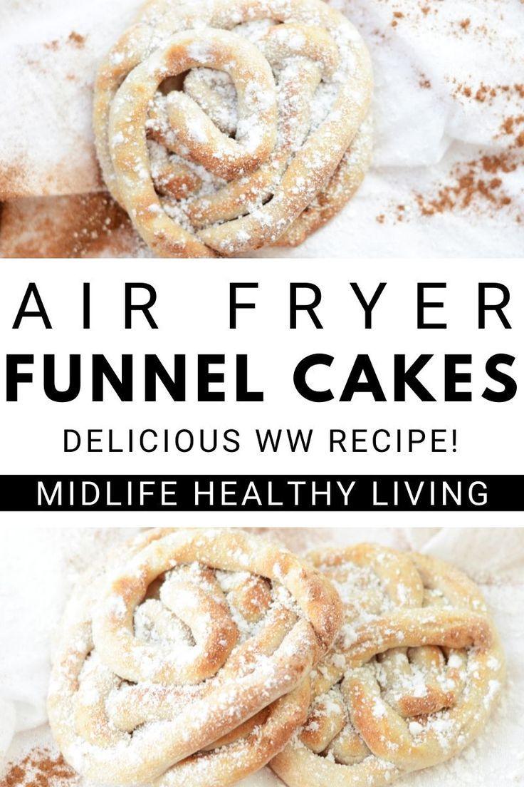 Air fryer funnel cake recipe in 2020 funnel cake