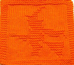 flying witch knit dishcloth | Free Christmas Knitted Dishcloth Patterns