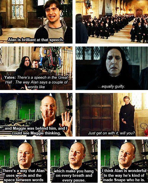 Talking about Alan Rickman in Harry Potter