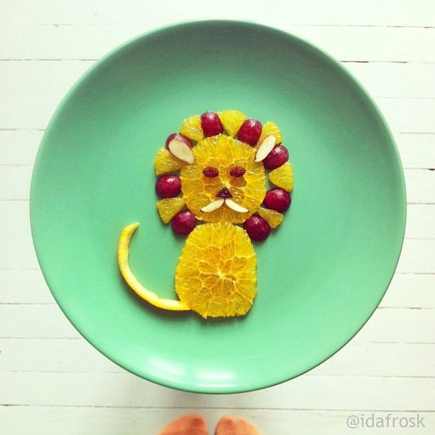 Cat Eat Pineapple Leaves