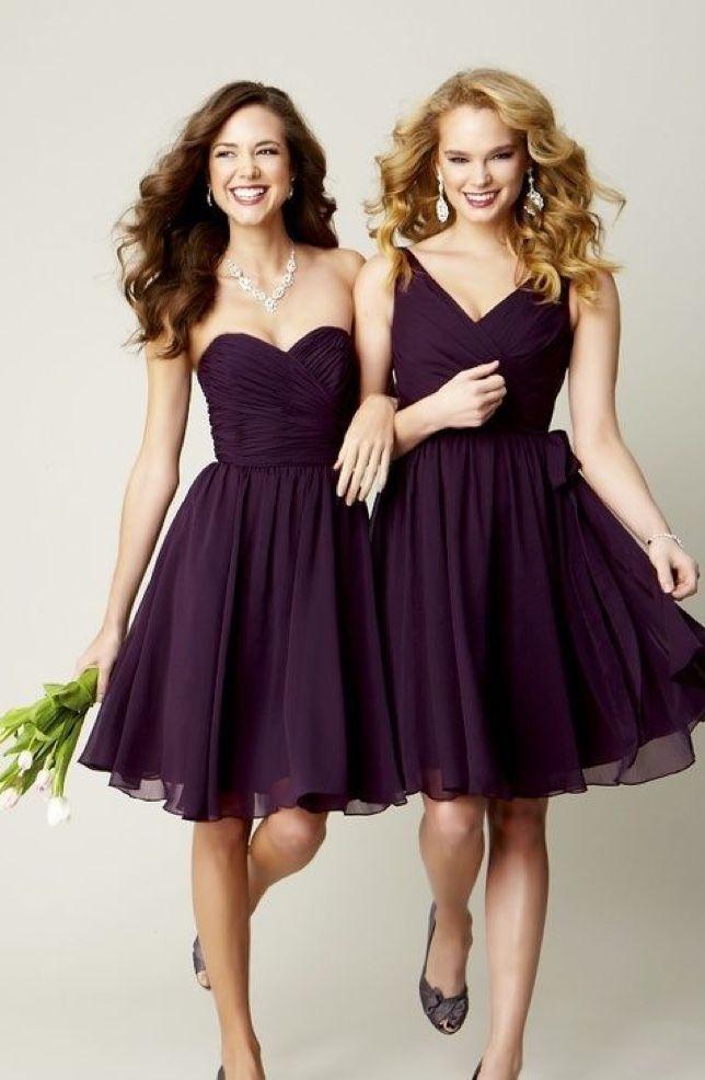 50 Unique Hairstyles For Long Hair Bridesmaid Dresses Short Purple Knee Length Bridesmaid Dresses Short Bridesmaid Dresses