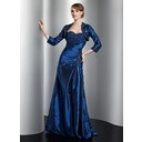 A-Line/Princess Sweetheart Floor-Length Taffeta Mother of the Bride Dress With Ruffle Beading (008014744)
