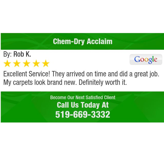 Excellent Service!  They arrived on time and did a great job.  My carpets look brand new....