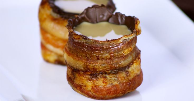 Bacon shot glasses, yes these edible receptacles do exist and you can click on the image to learn how to make them.