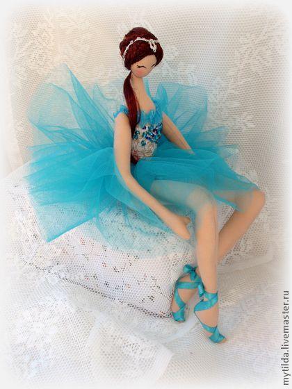 Человечки ручной работы. Ярмарка Мастеров - ручная работа Балерина в бирюзовом. Handmade.