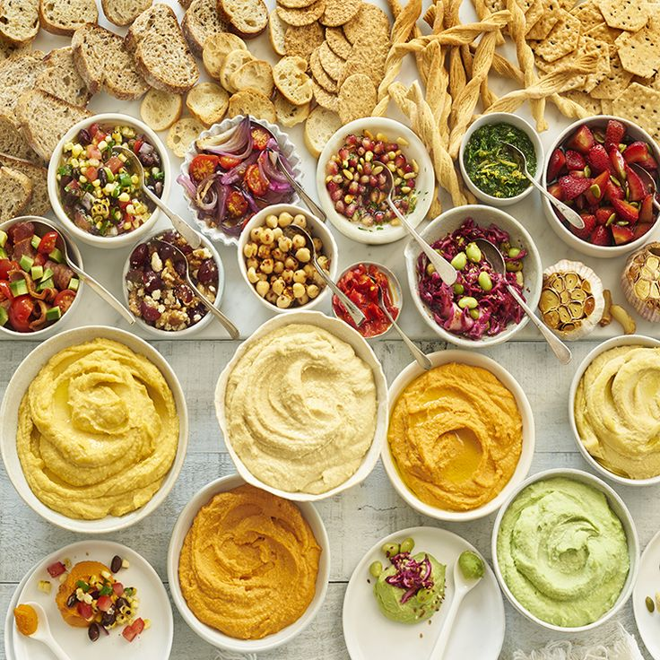 Top your own hummus bar