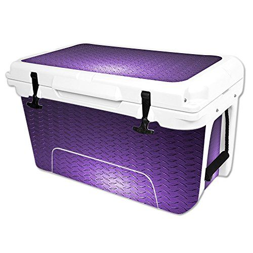 MightySkins Protective Vinyl Skin Decal Wrap for RTIC 45 qt Cooler cover sticker Purple Diamond Plate -- Check this awesome product by going to the link at the image.