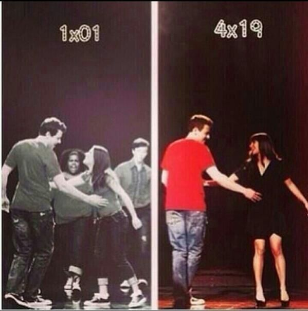 Cory Montieth's First and last episode of glee :(