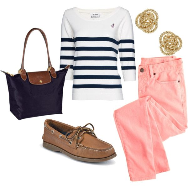 Nautical spring outfit…best time to whip out the nautical theme!