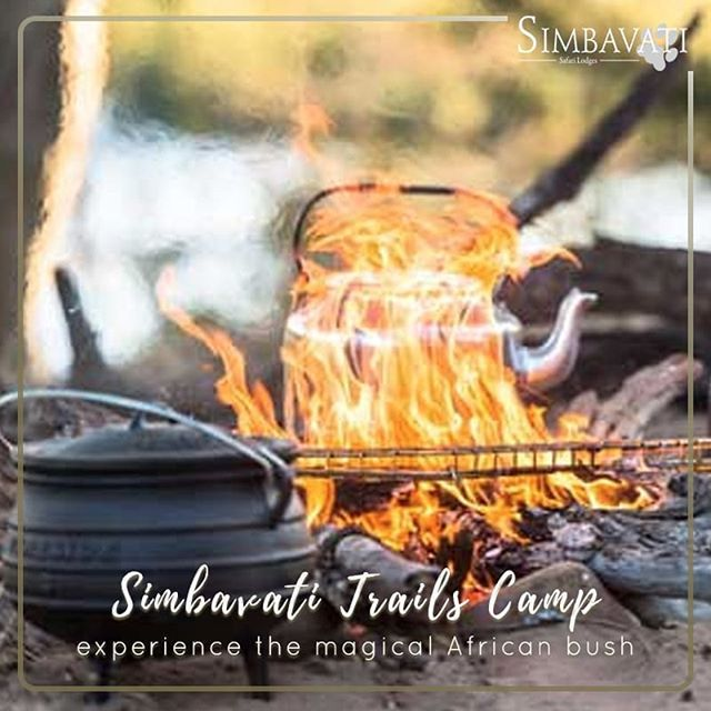 At the Simbavati Trails Camp meals are prepared over an open fire by an expert cook there is no electricity nor cellphone reception - just you and the magical melody of the African bush. . . . #Simbavati #Travel #Bush #Holiday #Getaway #AfricanSafari #Camp #Trails #Africa #New #Launch #Opening