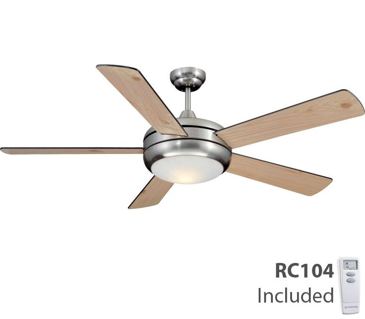 Craftmade Tit52sch5lkrci Titan Satin Chrome 52 High Airflow Ceiling Fan With Light Remote Control Ceiling Fan Chrome Ceiling Fan Fan Light
