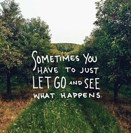 Letting go of what you thought was real..