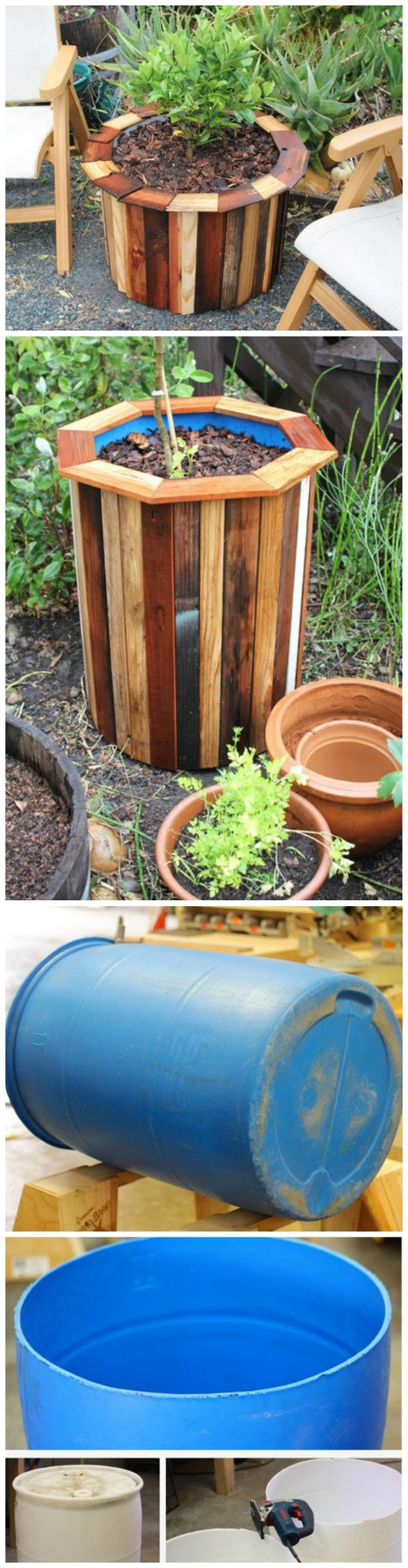 DIY Low Cost 55 Gallon Drum Planters