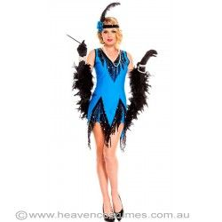How pretty is this brand new flapper costume! In stock and ready for express delivery Australia wide. Shop this one now at http://www.heavencostumes.com.au/facinating-flapper-sexy-women-s-costume.html