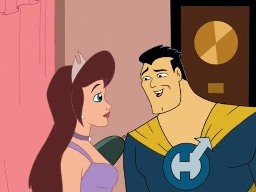 Drawn Together - Princess Clara and Captain Hero.