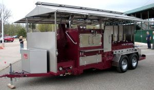 Custom BBQ Pits | custom made grills smokers commercial bbq rotisserie pit trailer ...
