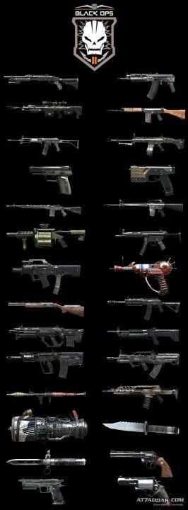 Black Ops II Zombie guns-My husband knows them all very well! Escolha a sua, #BlackOps