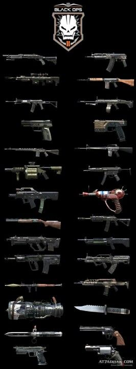 Black Ops II Zombie guns-My husband knows them all very well!