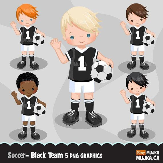 Soccer Clipart Sport Graphics Boys Soccer Player Characters Etsy Soccer Boys Sports Graphics Soccer Players