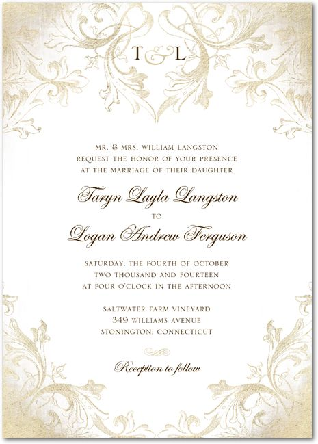 33 best wedding paper divas images on pinterest wedding paper signature white textured wedding invitations faded scroll by wedding paper divas junglespirit Image collections
