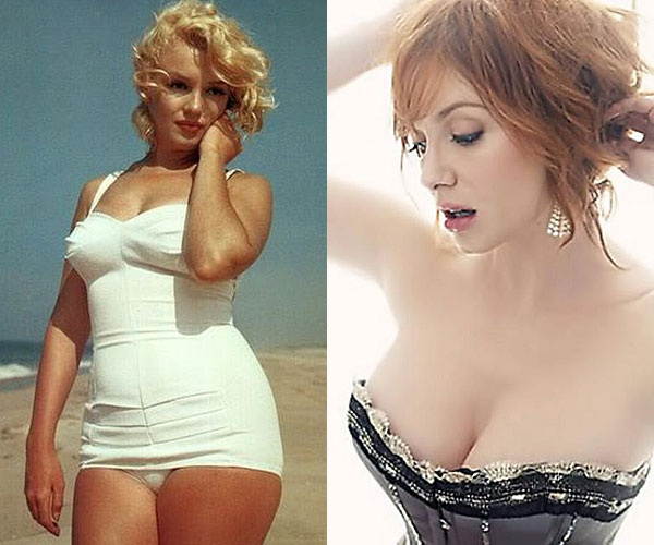 christina hendricks beach body