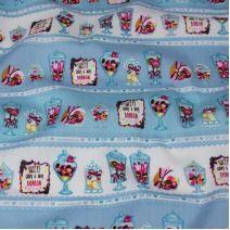 Bavlna modrobílá, bonbony, š.140