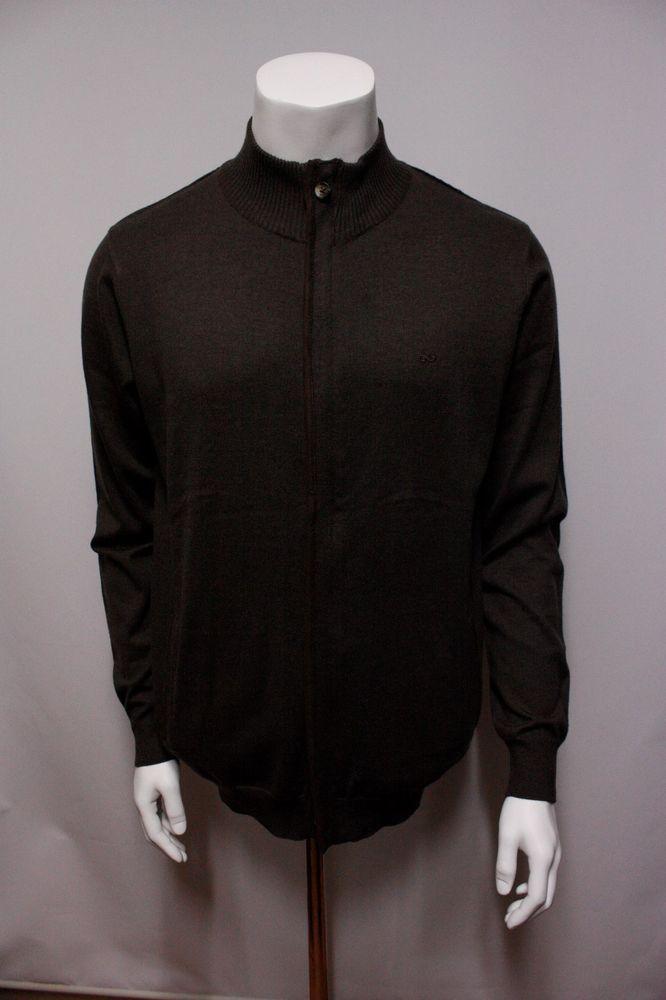 Man's 50%cotton30%acrylic15%nylon5%wool long Zipper Cardigan New