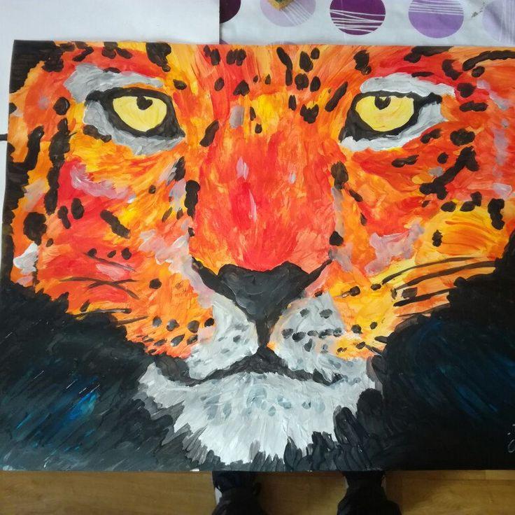 7th drawing acrylic just for fun #art #artist #animal #fineart  #wildanimal #acrylic #painting